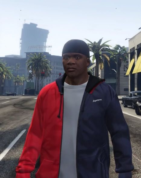 81c73eca8b7f Supreme 2-Tone Hooded Sideline Jacket - GTA5-Mods.com