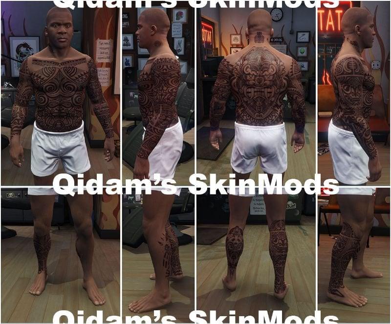 29688b tattoos tribal set for franklin