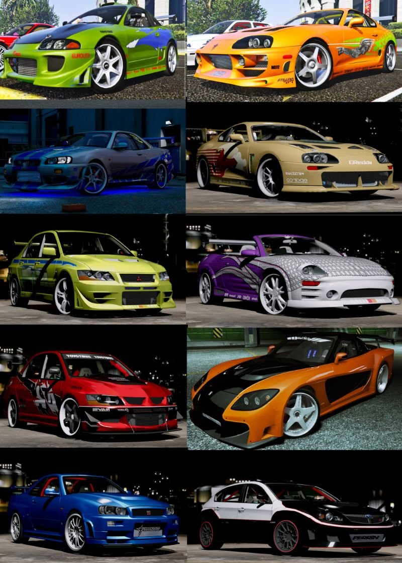 Fast And Furious 4 Skyline >> The Fast and the Furious Cars Pack [HQ-Add-On-Animated] - GTA5-Mods.com
