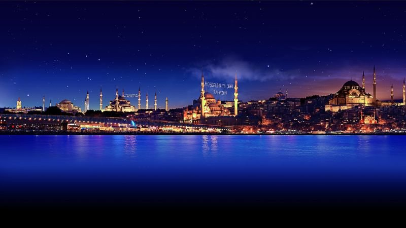 460e20 night beautiful metropolis of turkey hd desktop wallpaper