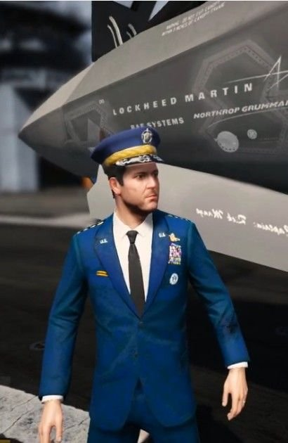 US Air Force General Uniform for 'Michael' - GTA5-Mods com