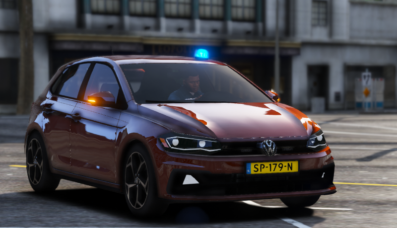volkswagen polo r line police politie unmarked els replace gta5. Black Bedroom Furniture Sets. Home Design Ideas