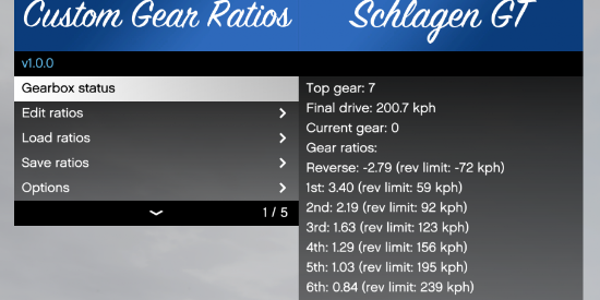 Custom Gear Ratios