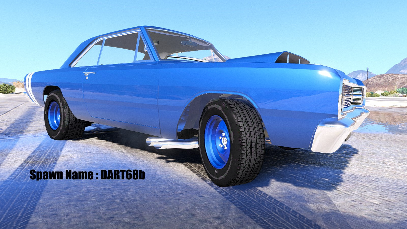 1968 Dodge Dart Hemi Super Stock Add On Replace Animated Charger Drag Car 8abd4f Drag2 B7210b