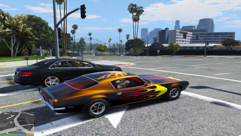 1970 Pontiac Firebird Flames Livery Gta5 Mods Com