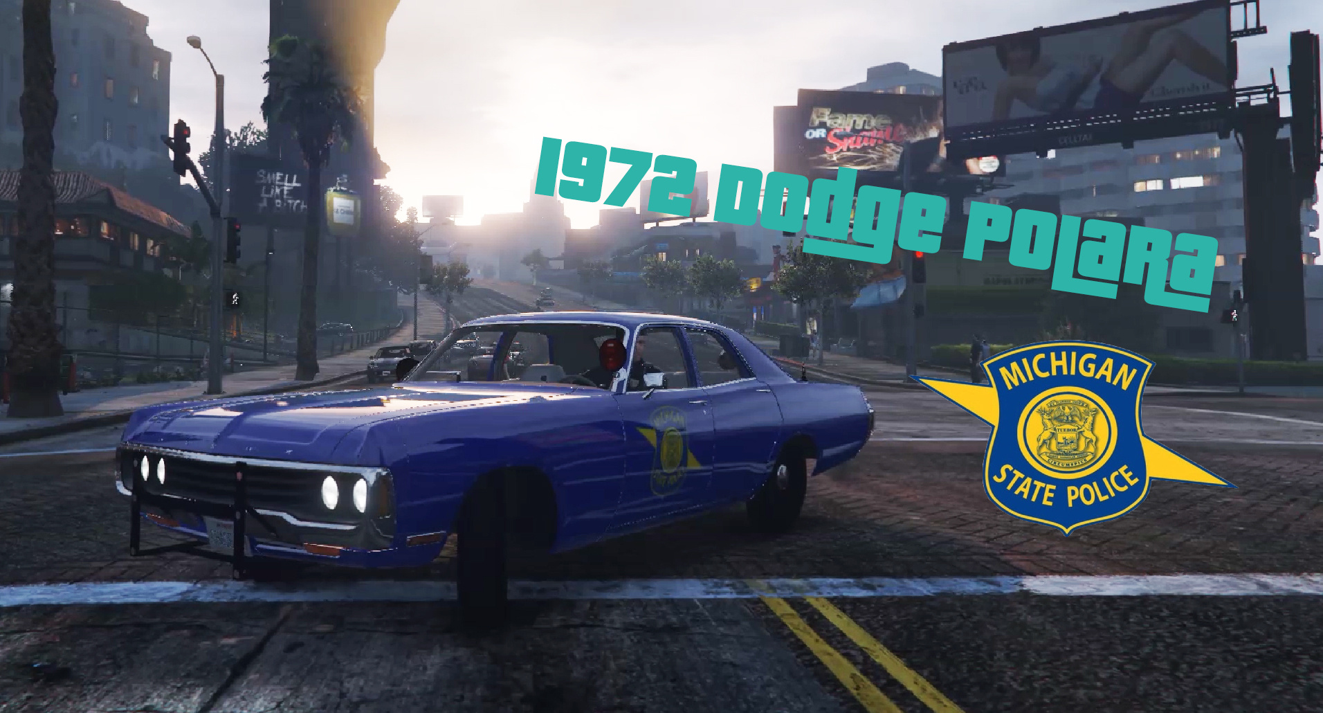 1972 Dodge Polara (Michigan State Police) (Replace) - GTA5