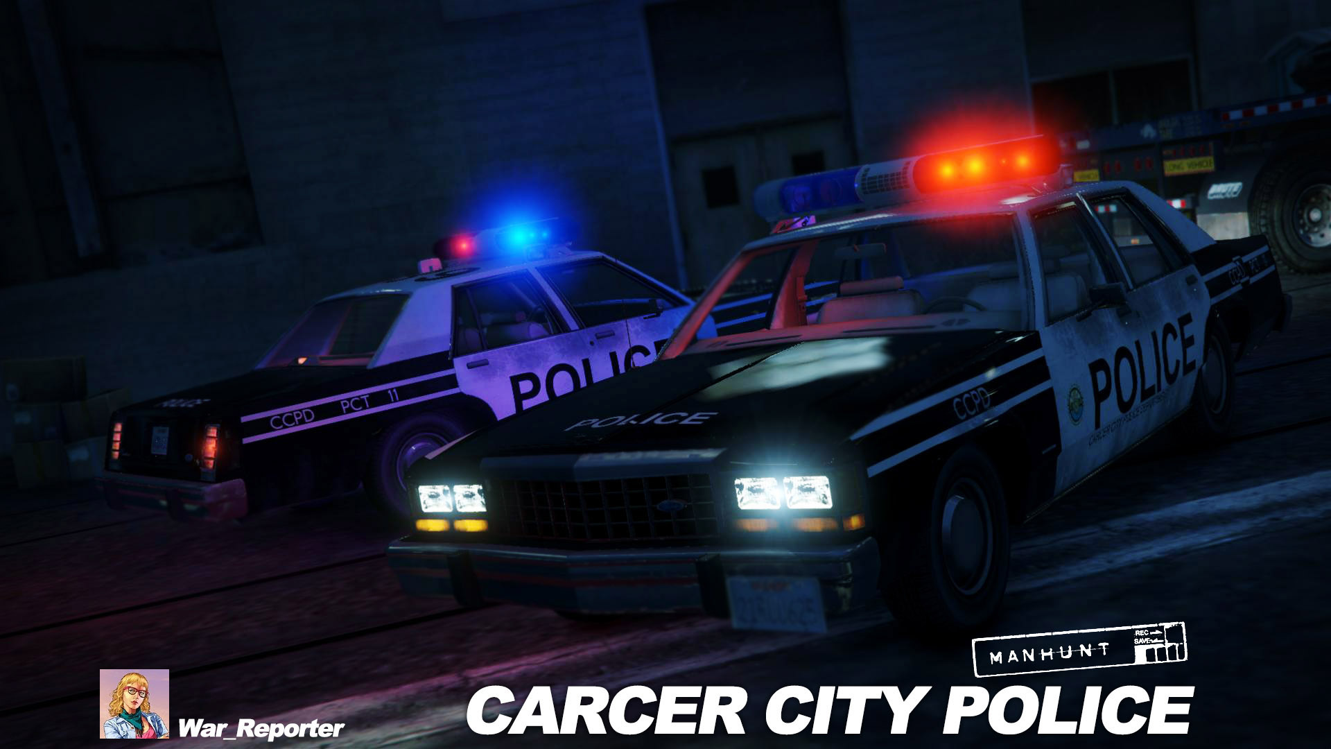 1987 Ford Ltd Carcer City Police In Manhunt Skin Gta5 Modscom