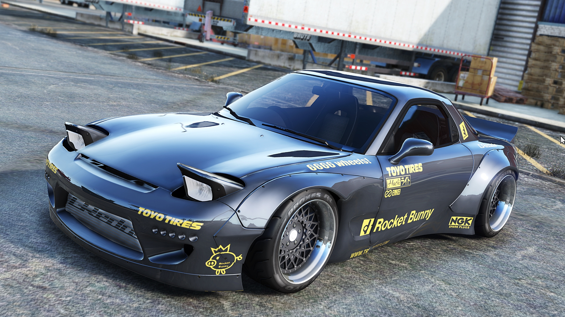 1992 mazda rx 7 rocket bunny gta5. Black Bedroom Furniture Sets. Home Design Ideas