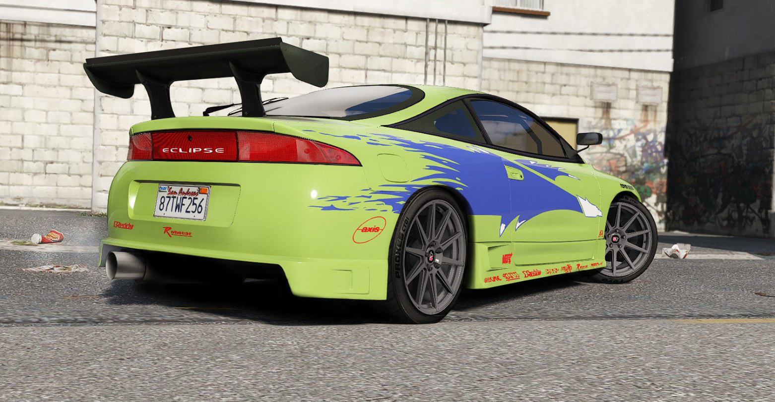 Gta 5 Toyota Supra >> 1995 Mitsubishi Eclipse GSX The Fast and the Furious - GTA5-Mods.com