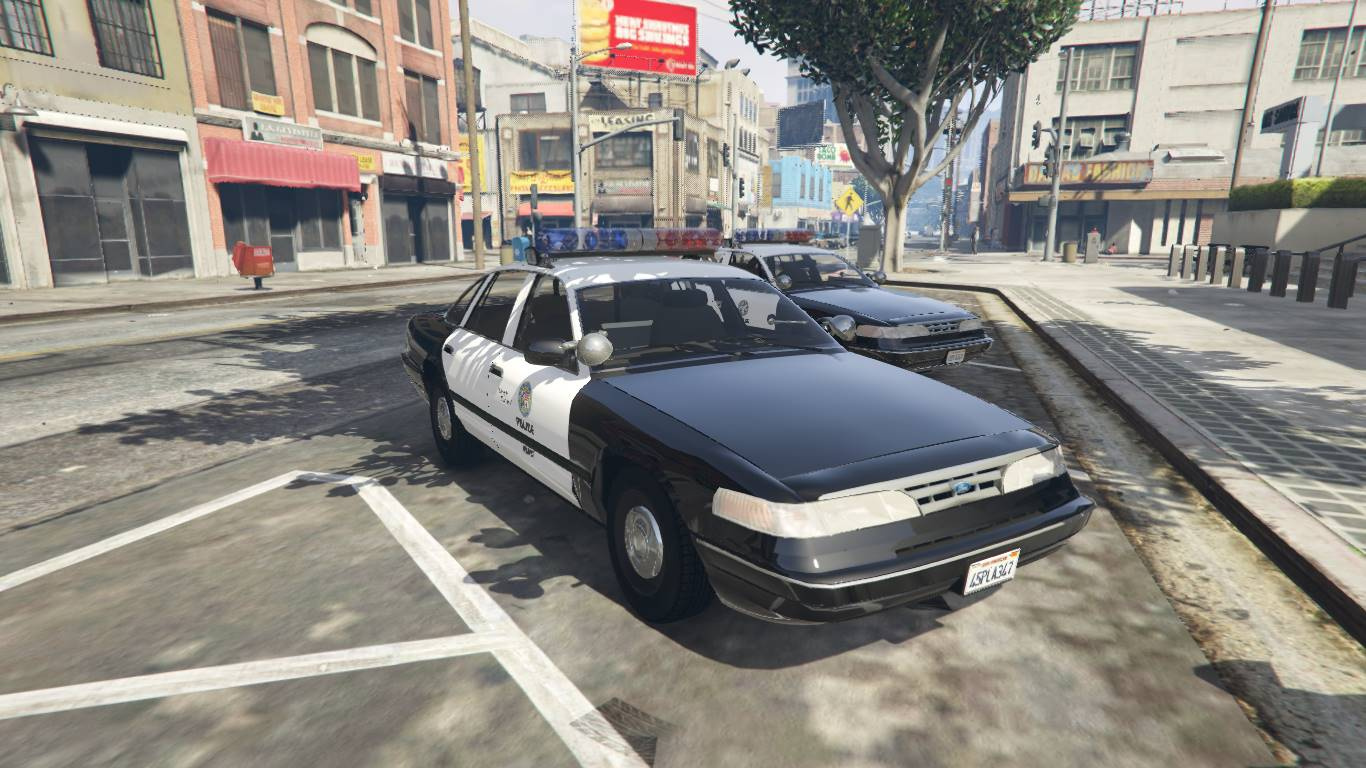 1996 ford crown victoria lspd  add-on    replace