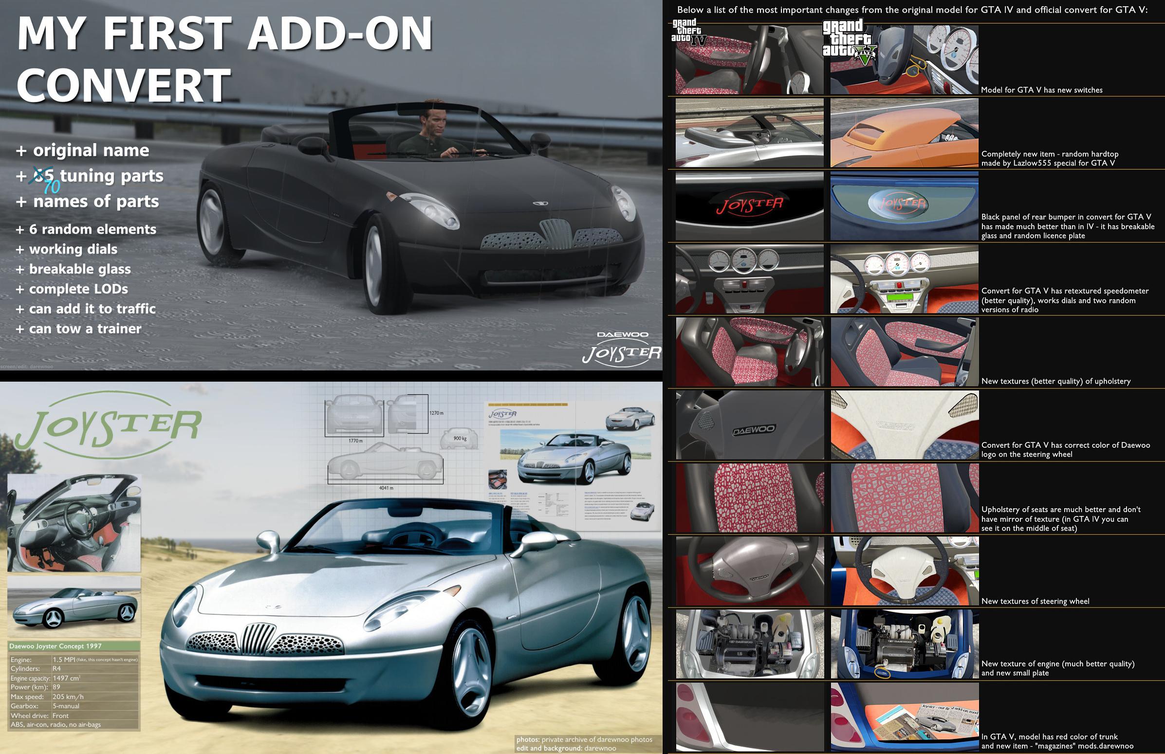 1997 Daewoo Joyster Concept [Add-On / Replace | Tuning] - GTA5-Mods.com