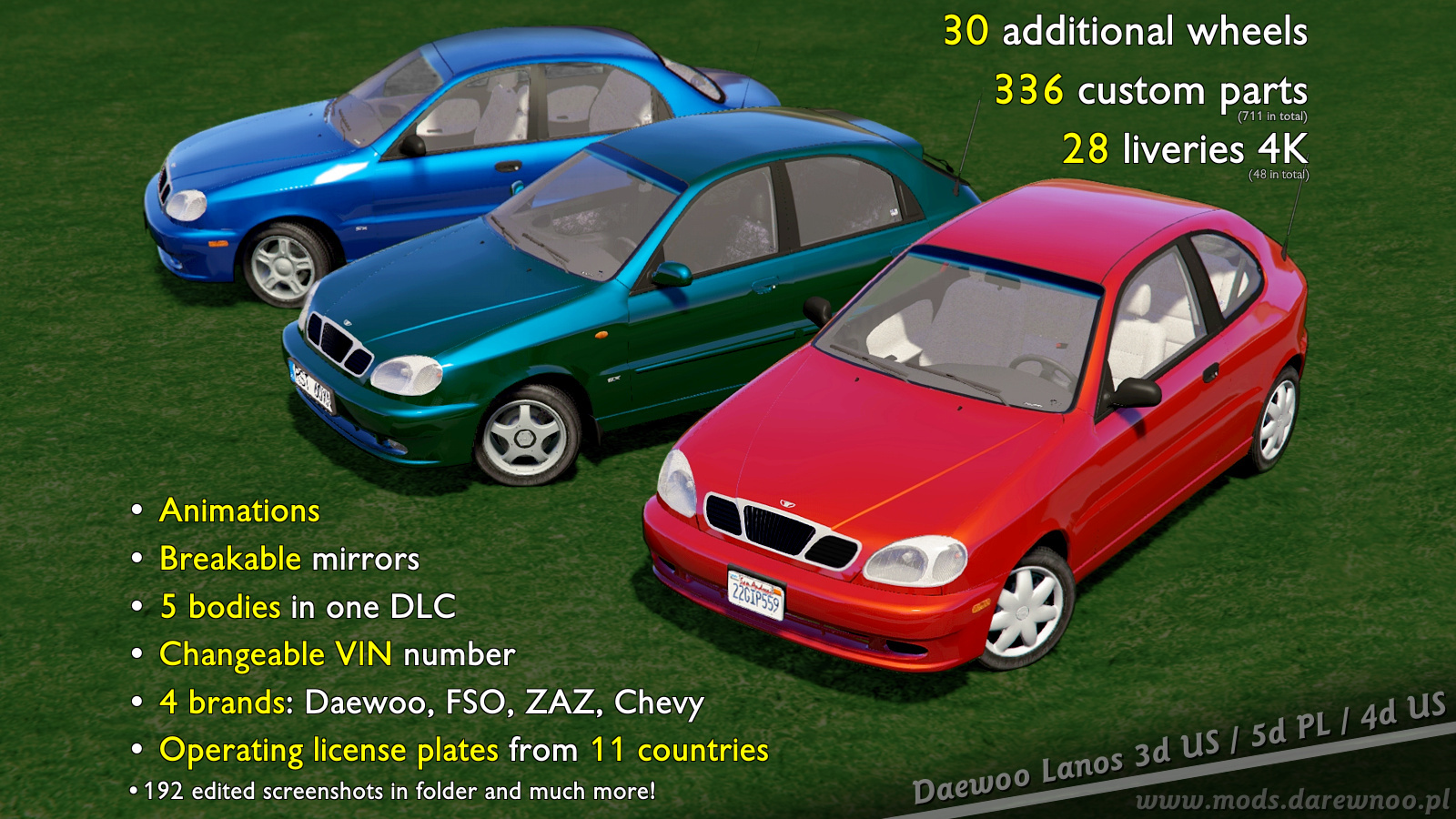 2000 Daewoo Lanos* [Add-On/Rep | Tuning | Rims | Liveries ...