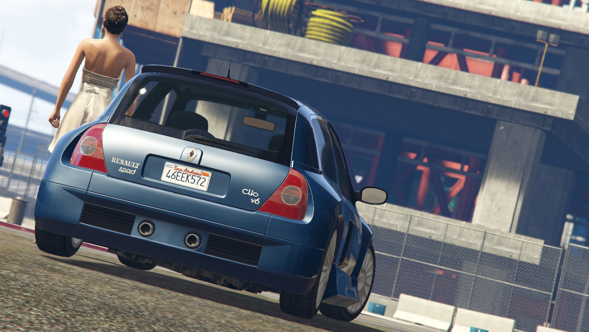 2003 renault clio v6 phase 2 add on tuning gta5 for Interieur clio 4