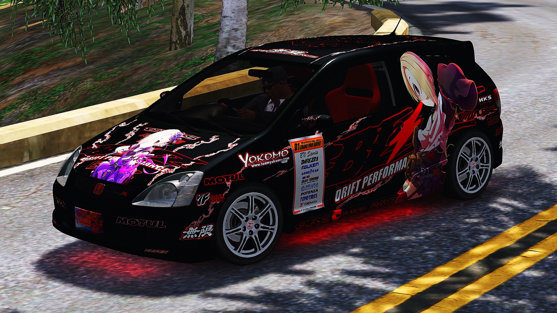 2004 honda civic type r ep3 itasha livery gta5. Black Bedroom Furniture Sets. Home Design Ideas