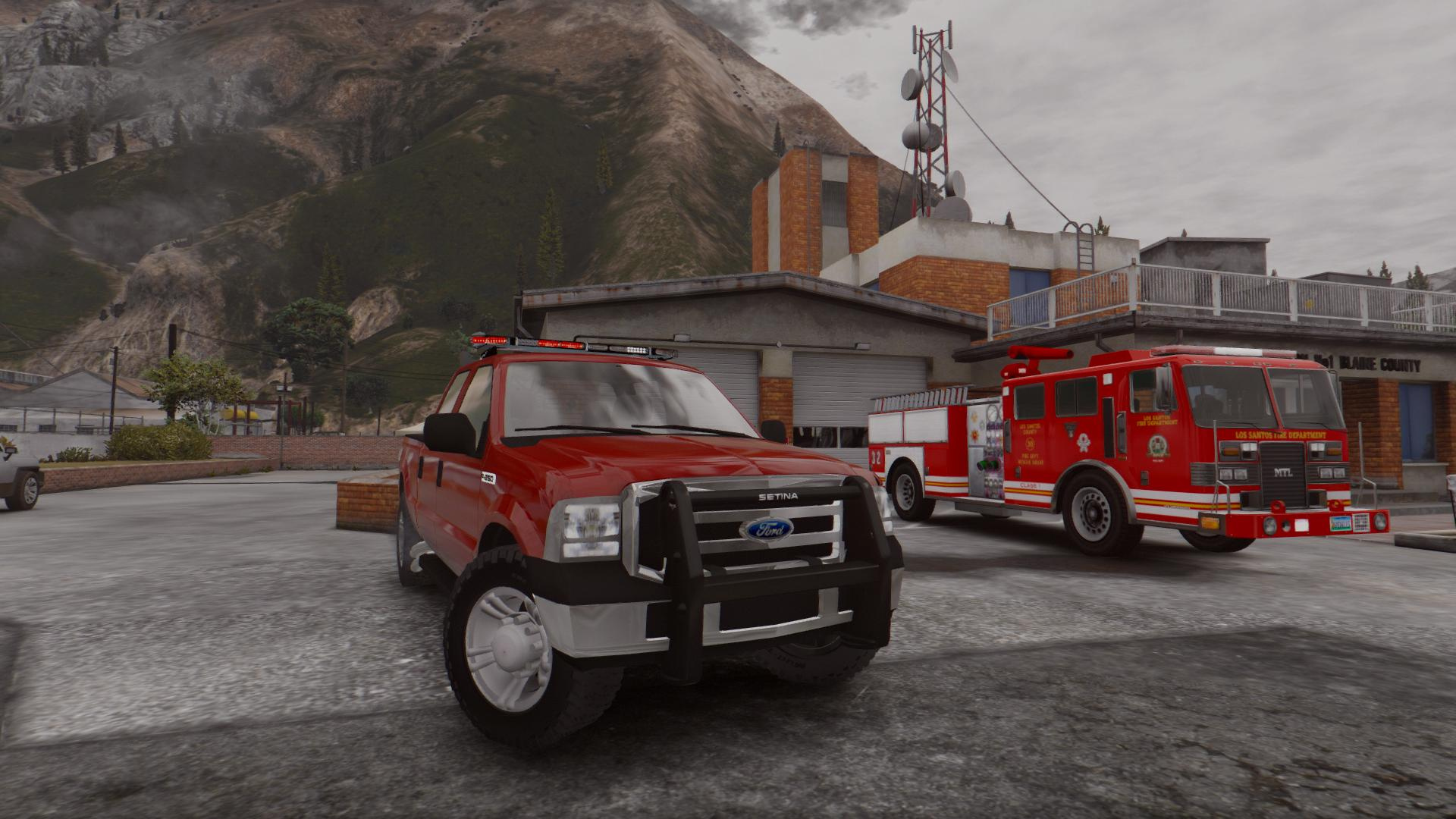 2007 Ford F250 Unmarked Fire Marshall - GTA5-Mods.com