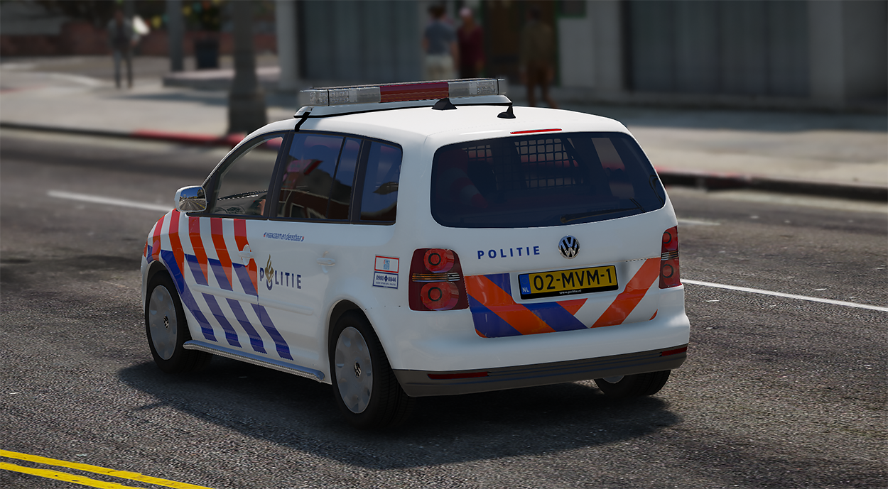 2007 volkswagen touran dutch police nederlandse politie els template gta5. Black Bedroom Furniture Sets. Home Design Ideas