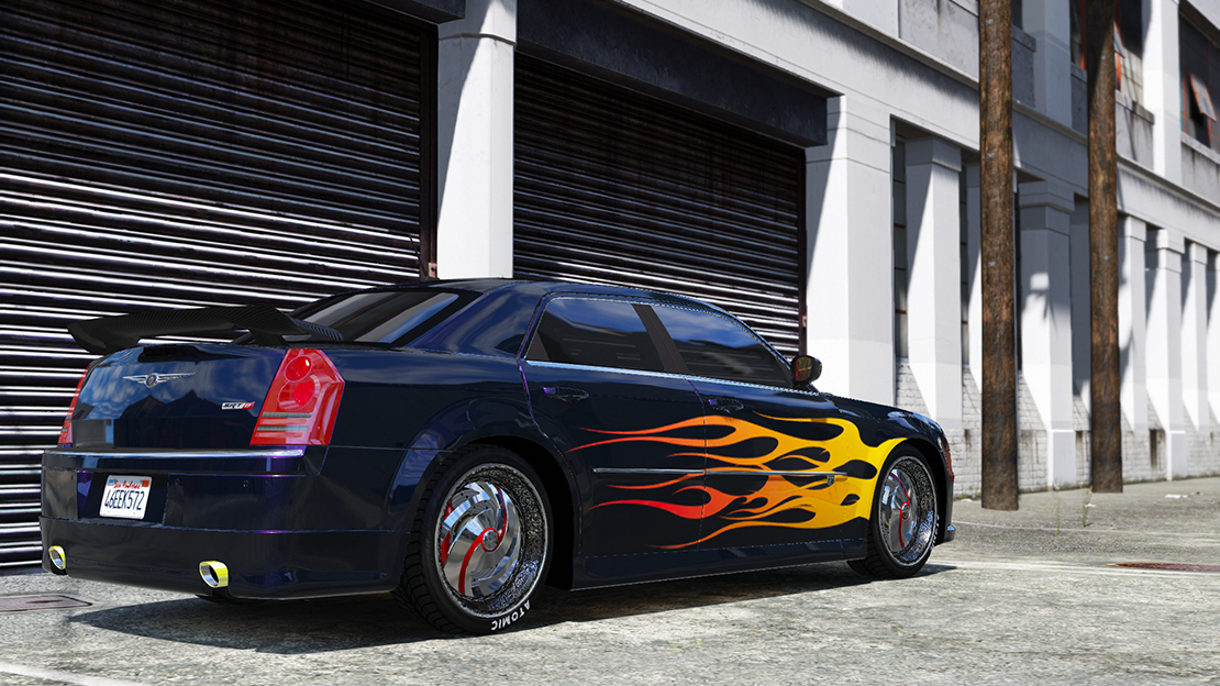 2008 chrysler 300c srt8 tuning livery add on dub template gta5. Black Bedroom Furniture Sets. Home Design Ideas