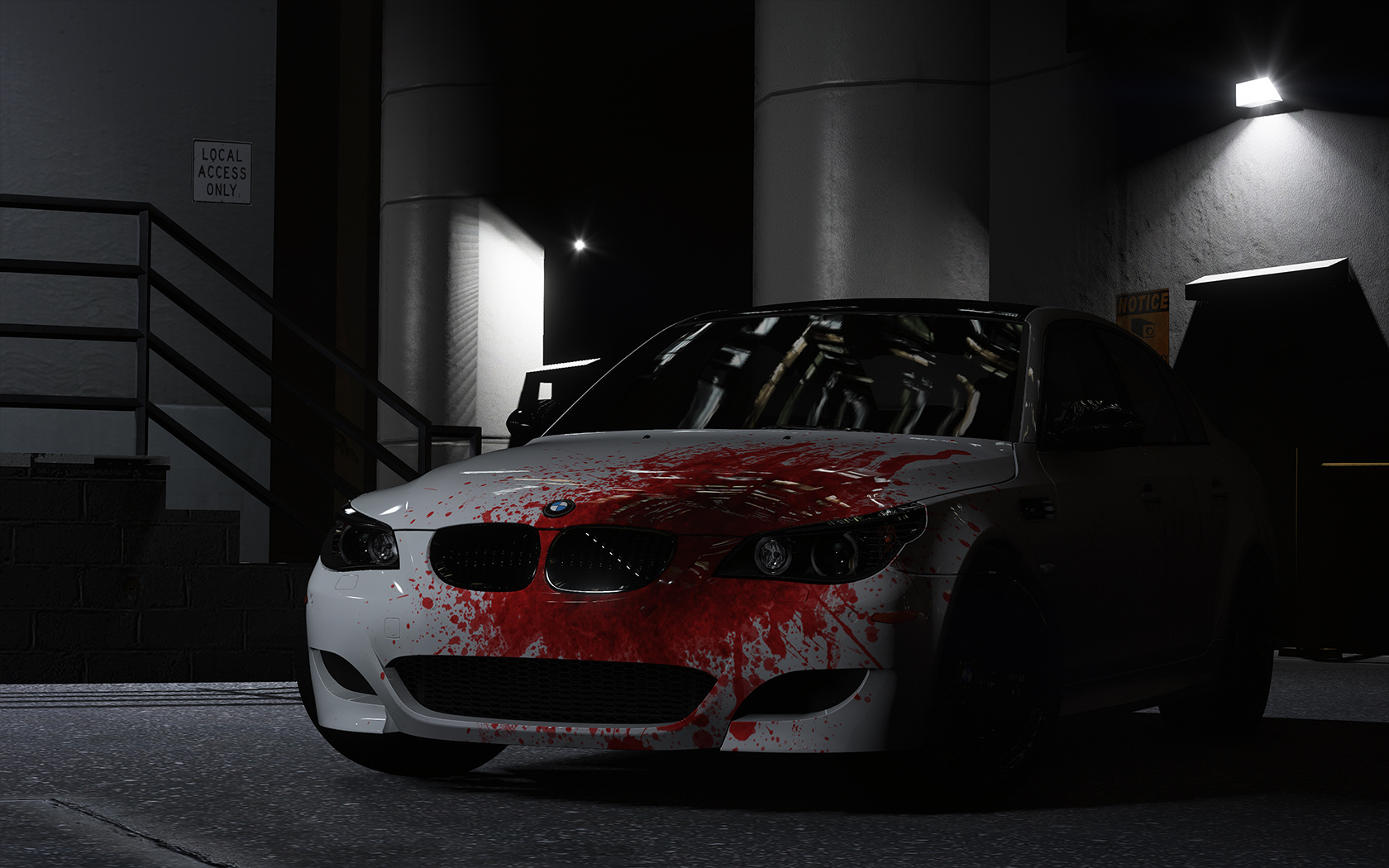 2009 Bmw M5 E60 Blood Vinyl Gta5 Mods Com