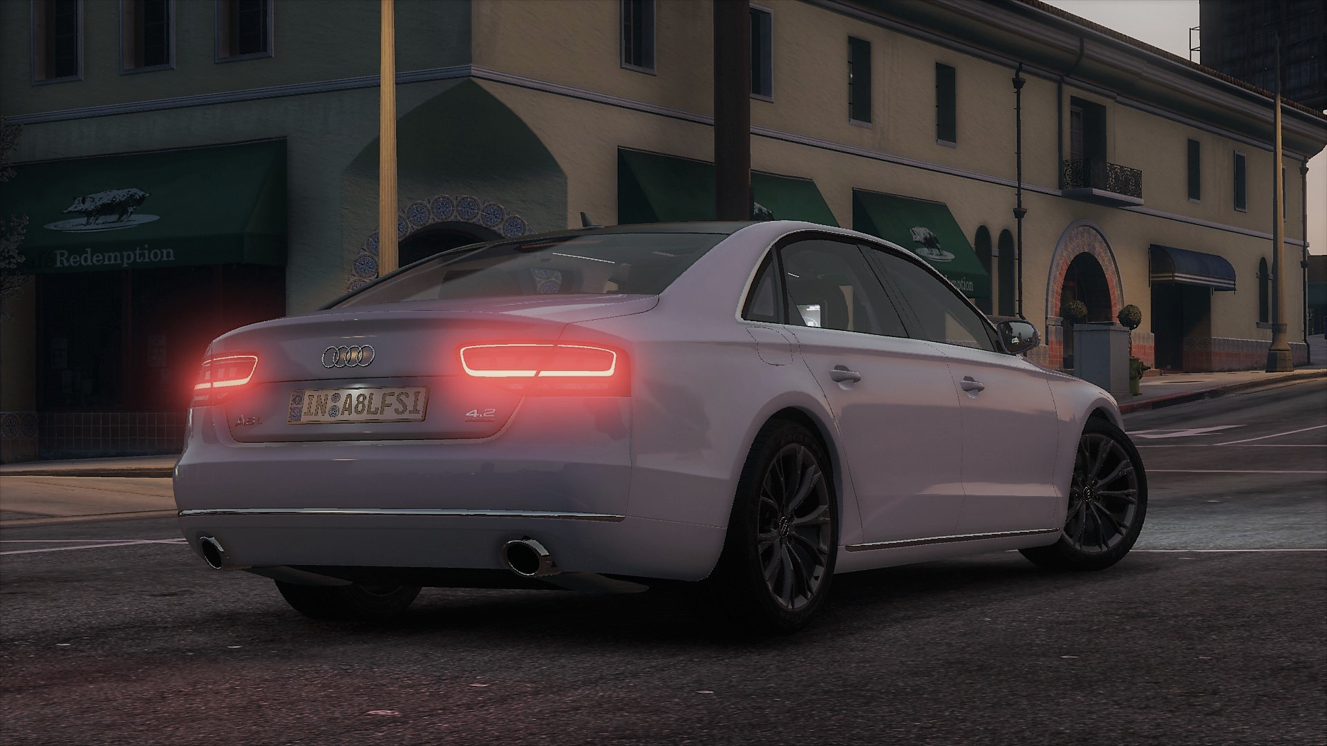 2010 audi a8 l 4 2 fsi quattro d4 add on tuning gta5. Black Bedroom Furniture Sets. Home Design Ideas