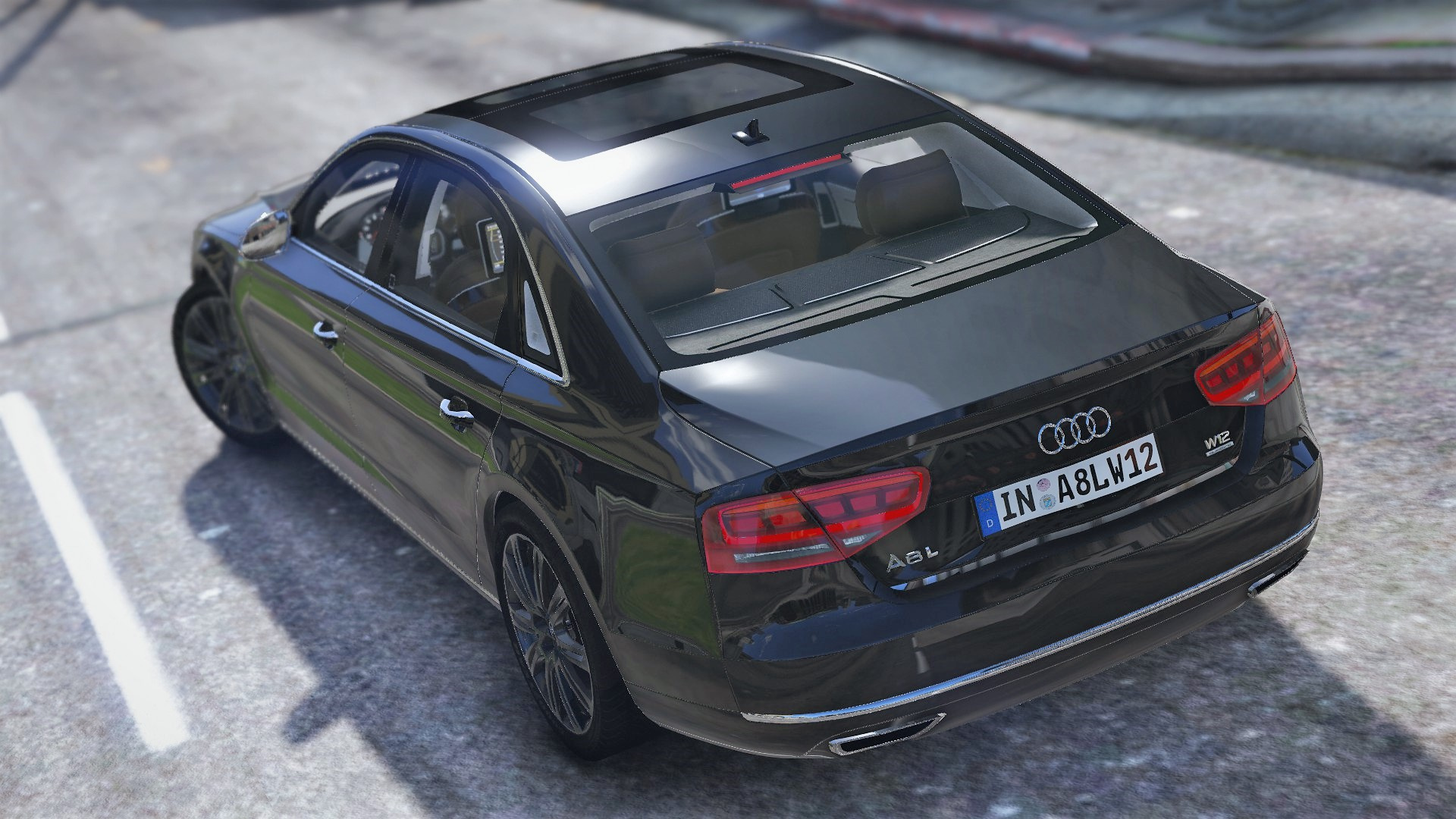 2010 audi a8 l w12 quattro d4 add on tuning gta5. Black Bedroom Furniture Sets. Home Design Ideas