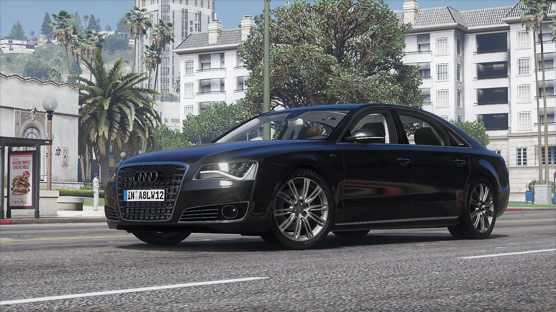 2011 audi a8 l w12 quattro d4 add on tuning gta5. Black Bedroom Furniture Sets. Home Design Ideas