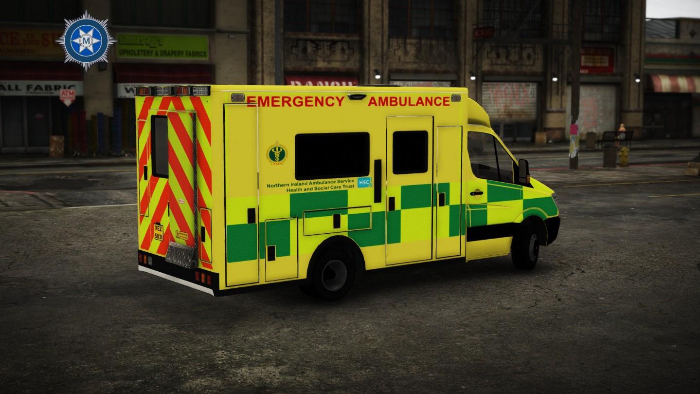 2010 British Mercedes Sprinter Ambulance Els Nias Las