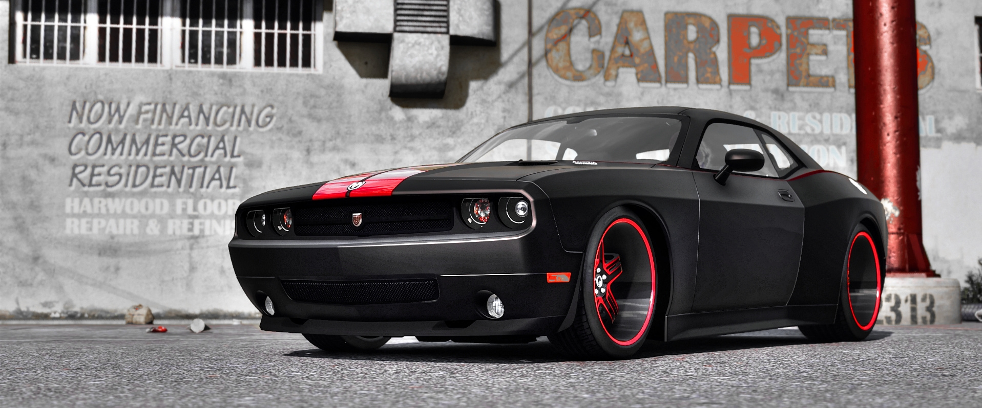 2010 dodge challenger srt8 rampage edition add on replace template gta5. Black Bedroom Furniture Sets. Home Design Ideas