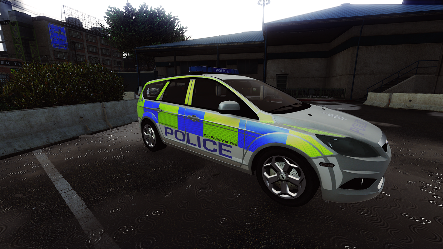 2010 ford focus estate norfolk constabulary gta5. Black Bedroom Furniture Sets. Home Design Ideas