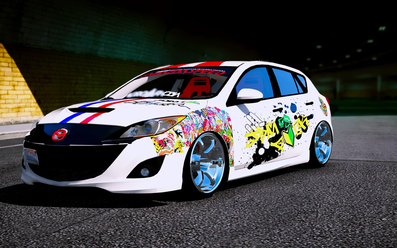 Livery for 2010 mazda 3 modify gta5 for Mazdaspeed 6 exterior mods