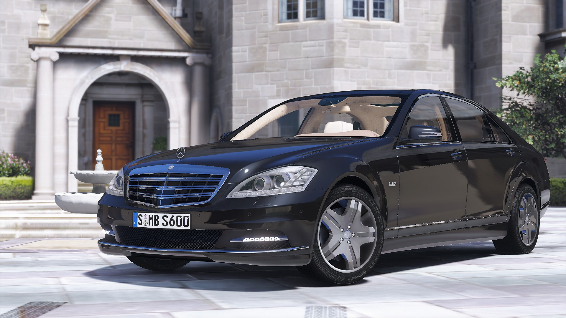 2010 mercedes benz s600 l w221 add on tuning gta5 for Mercedes benz 600