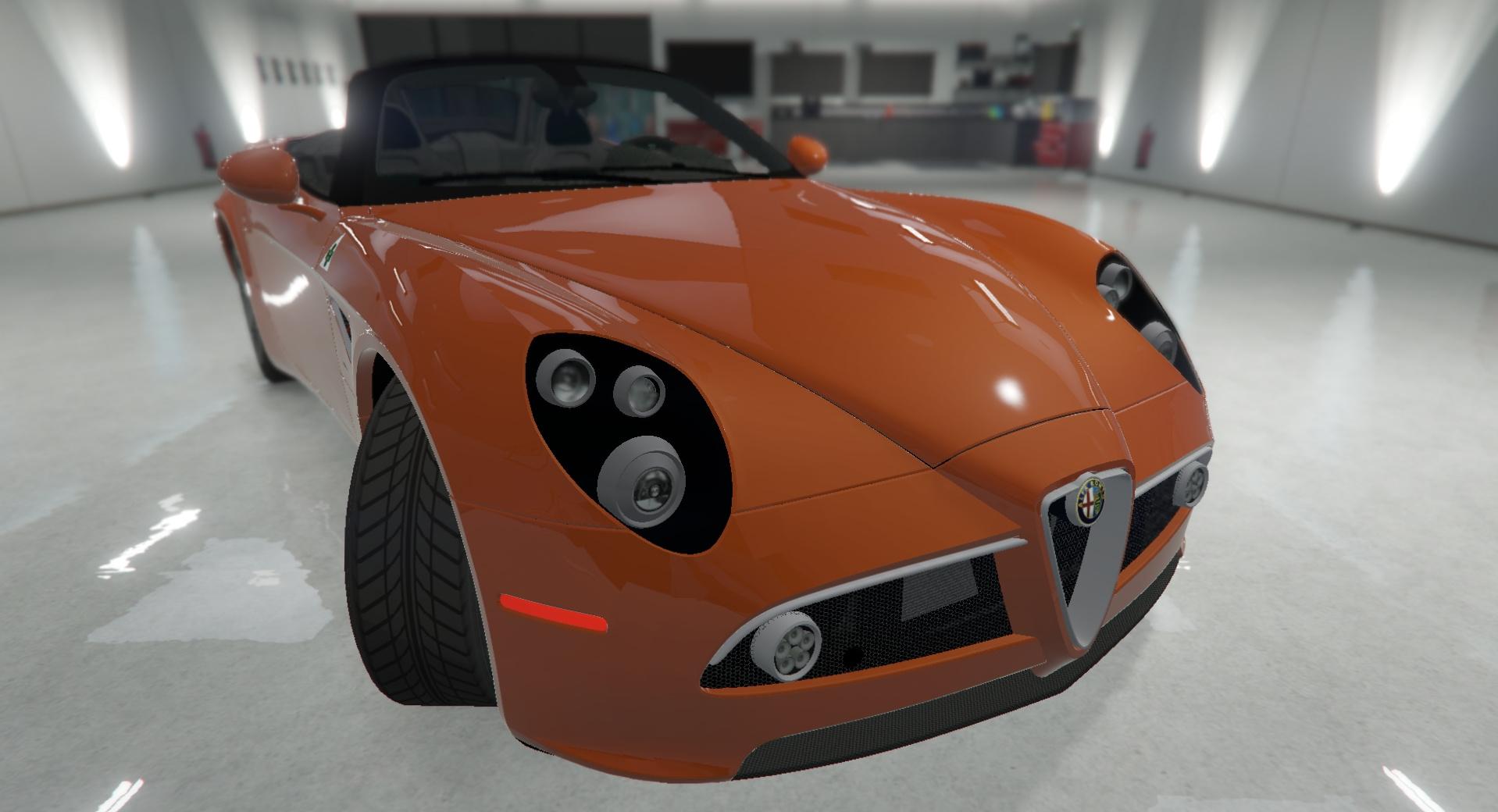 2012 Alfa Romeo 8C Spider GTA5 Mods