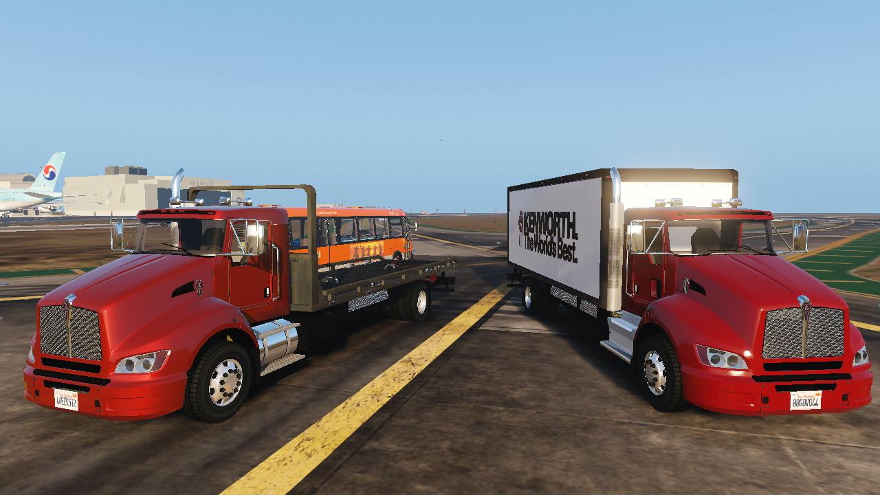2012 kenworth t440 box flatbed truck template gta5. Black Bedroom Furniture Sets. Home Design Ideas