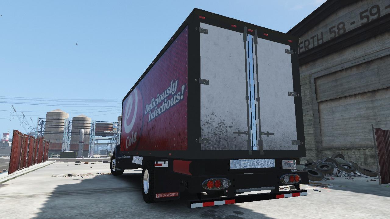 2012 kenworth t440 box flatbed truck template gta5 mods com