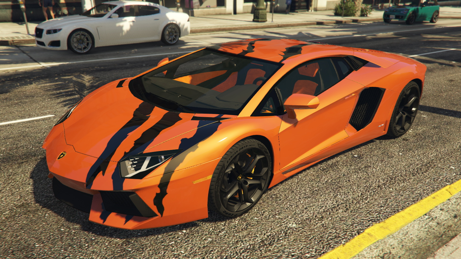 2012 lamborghini aventador lp700 4 tiger claws paintjob gta5. Black Bedroom Furniture Sets. Home Design Ideas