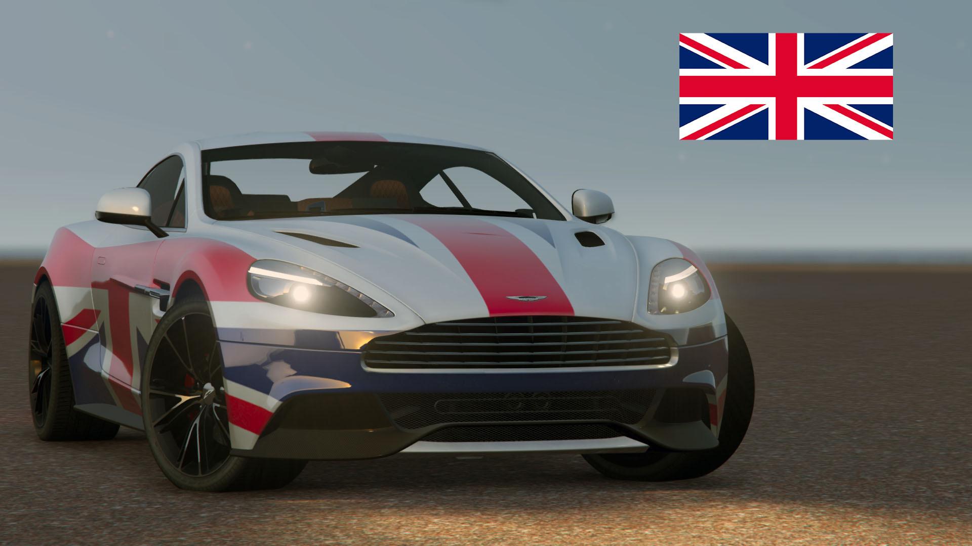 2013 Aston Martin Vanquish ]Union Jack Livery GTA5 Mods