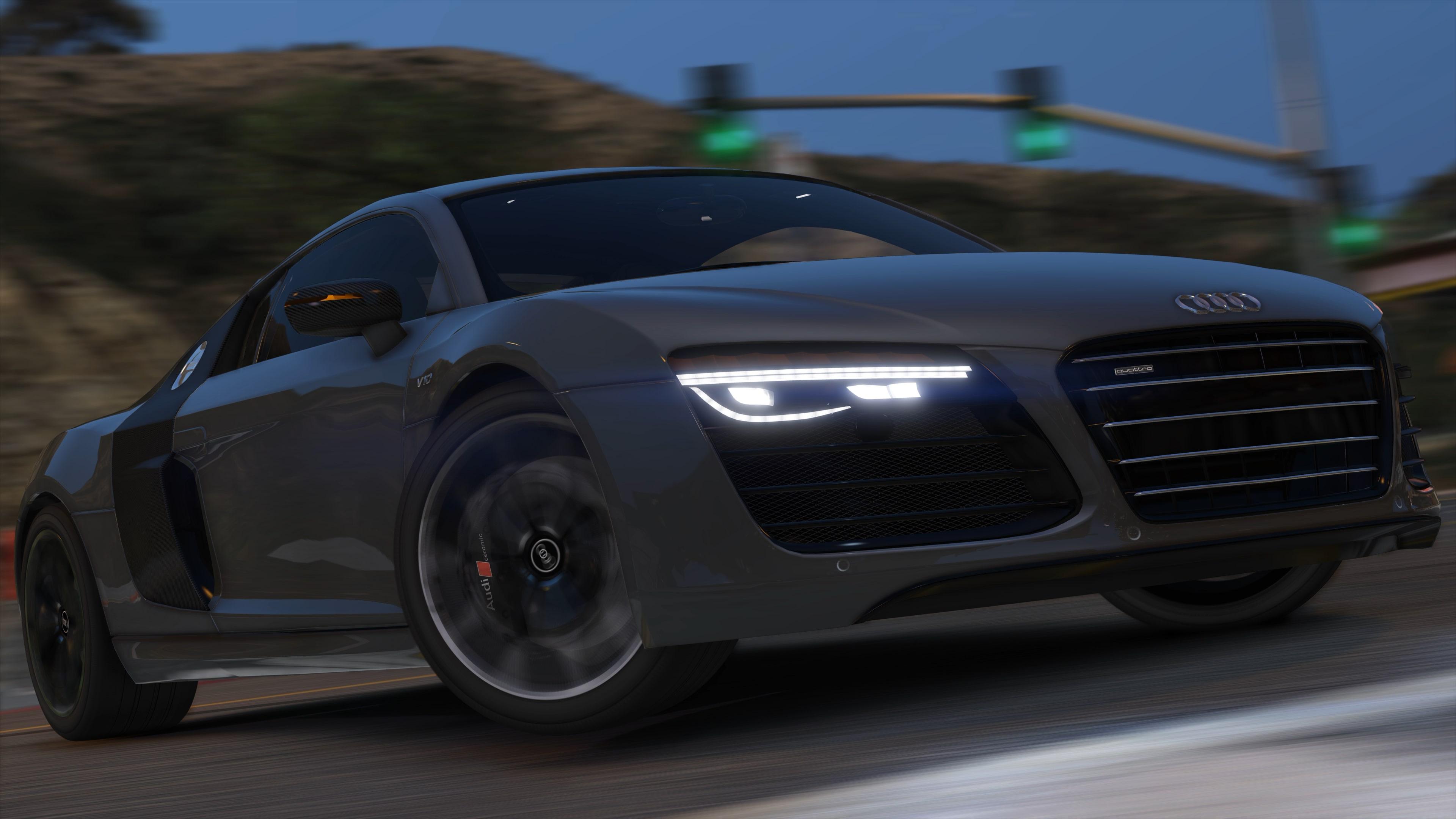 2013 Audi R8 5 2 FSI Quattro Plus [Add Replace] GTA5 Mods