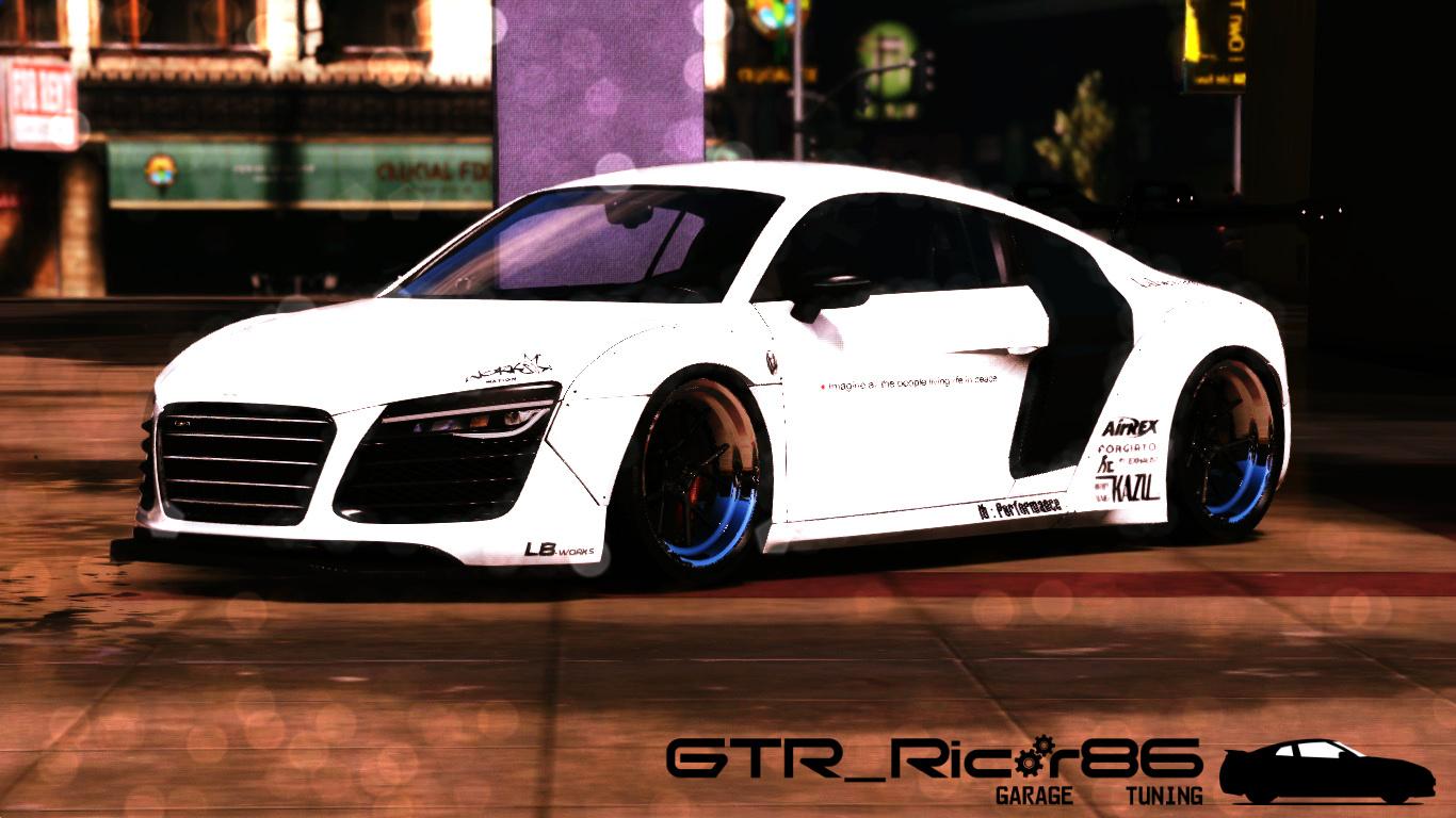 Audi R8 V10 LibertyWalk Add On Replace GTA5 Modscom