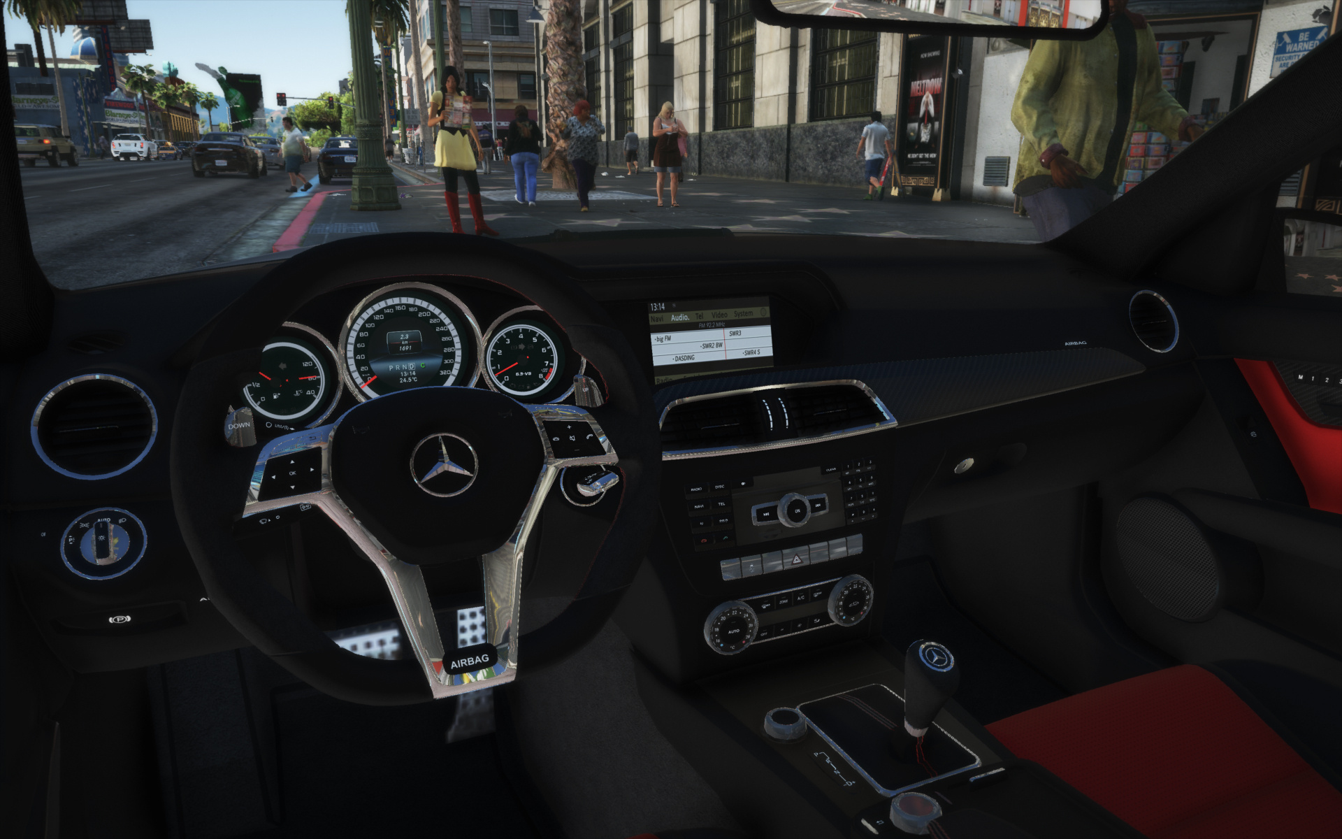 2013 Mercedes-AMG C63 (W204) Facelift [Add-On   Black Series