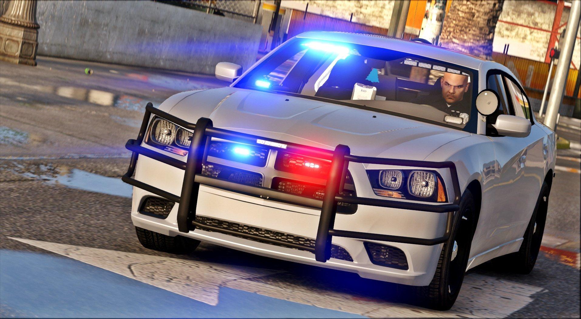 2014 Unmarked Dodge Charger [ELS] - GTA5-Mods com