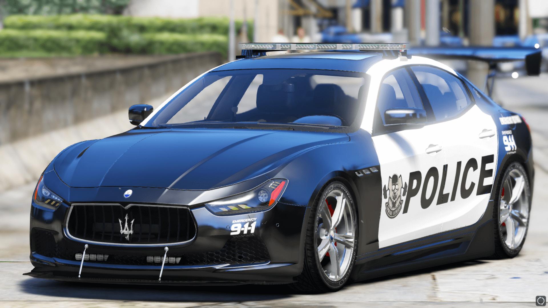 2014 Maserati Ghibli Police Add On Tuning Template