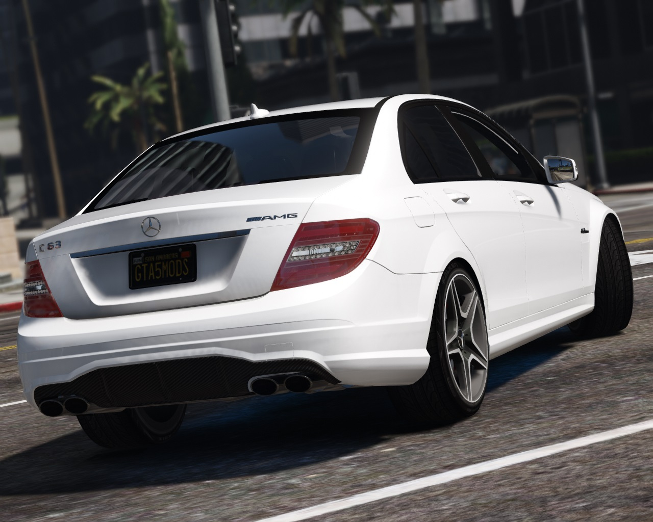 2011 mercedes benz c63 amg w204 add on replace tuning hq gta5. Black Bedroom Furniture Sets. Home Design Ideas