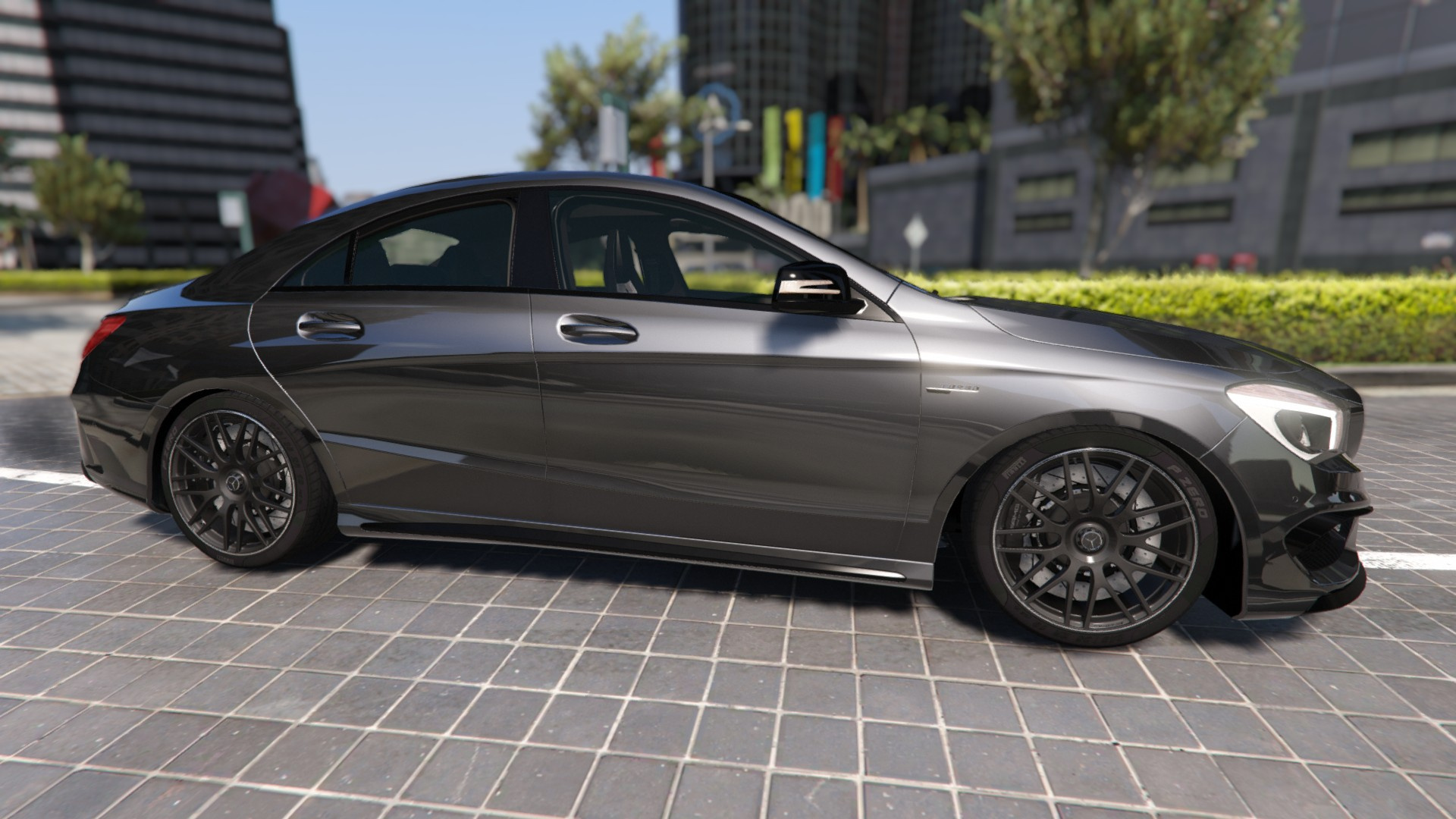2014 mercedes benz cla 45 amg coupe add on replace livery hq gta5. Black Bedroom Furniture Sets. Home Design Ideas