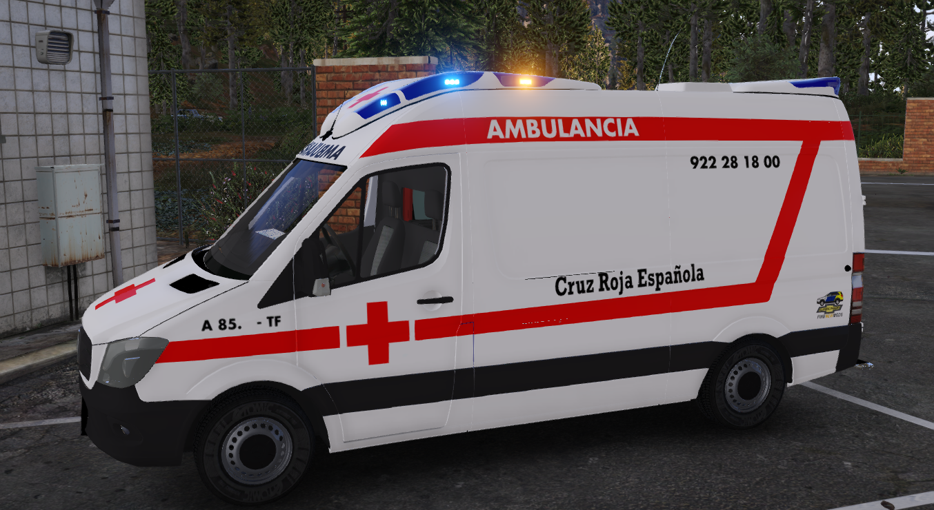 2014 Mercedes Benz Sprinter Ambulancia Cruz Roja Española