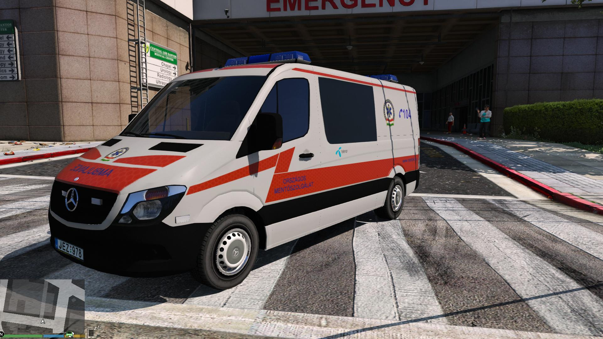 2014 Police Mercedes Sprinter Hungarian Ambulance Paintjob
