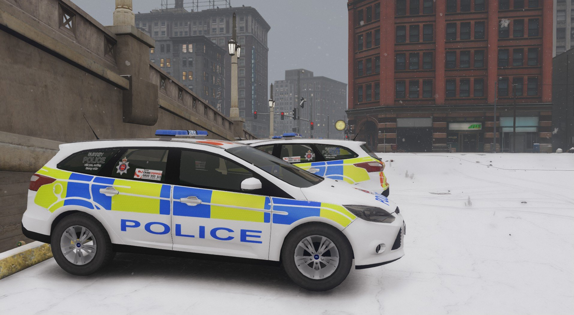 2014 surrey police ford focus estate gta5. Black Bedroom Furniture Sets. Home Design Ideas