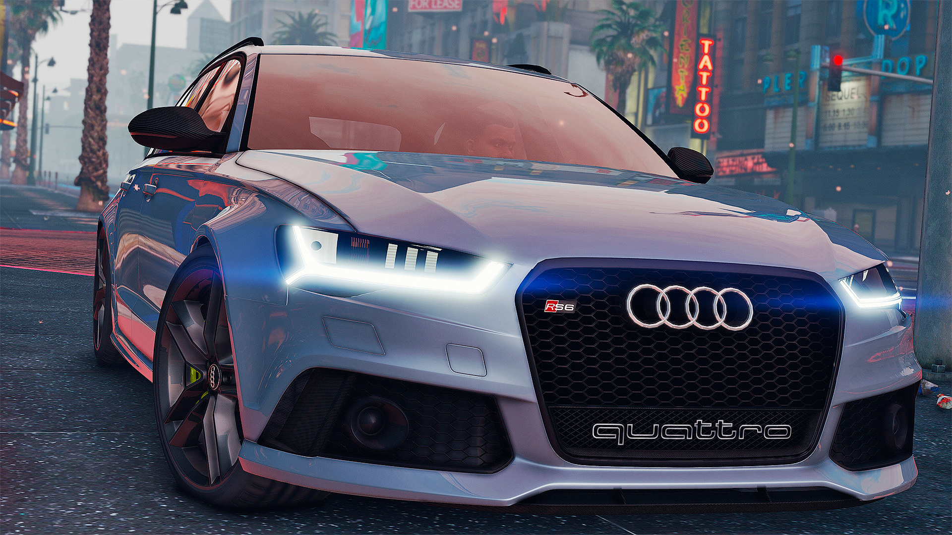 2015 audi rs6 c7 avant add on tuning hq gta5. Black Bedroom Furniture Sets. Home Design Ideas