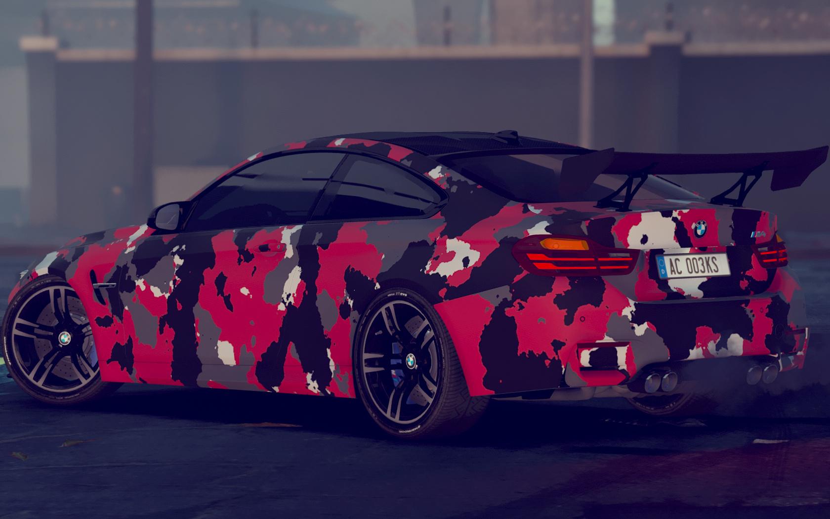 2015 BMW F82 M4 Camo PaintJob - GTA5-Mods.com