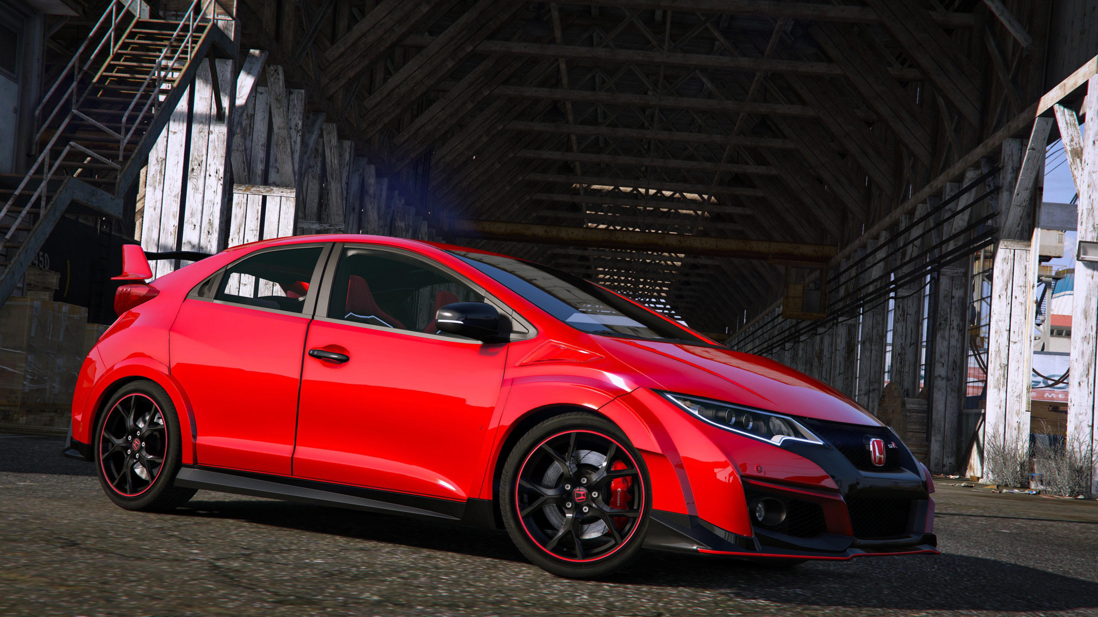 2015 honda civic type r fk2 add on rhd gta5. Black Bedroom Furniture Sets. Home Design Ideas