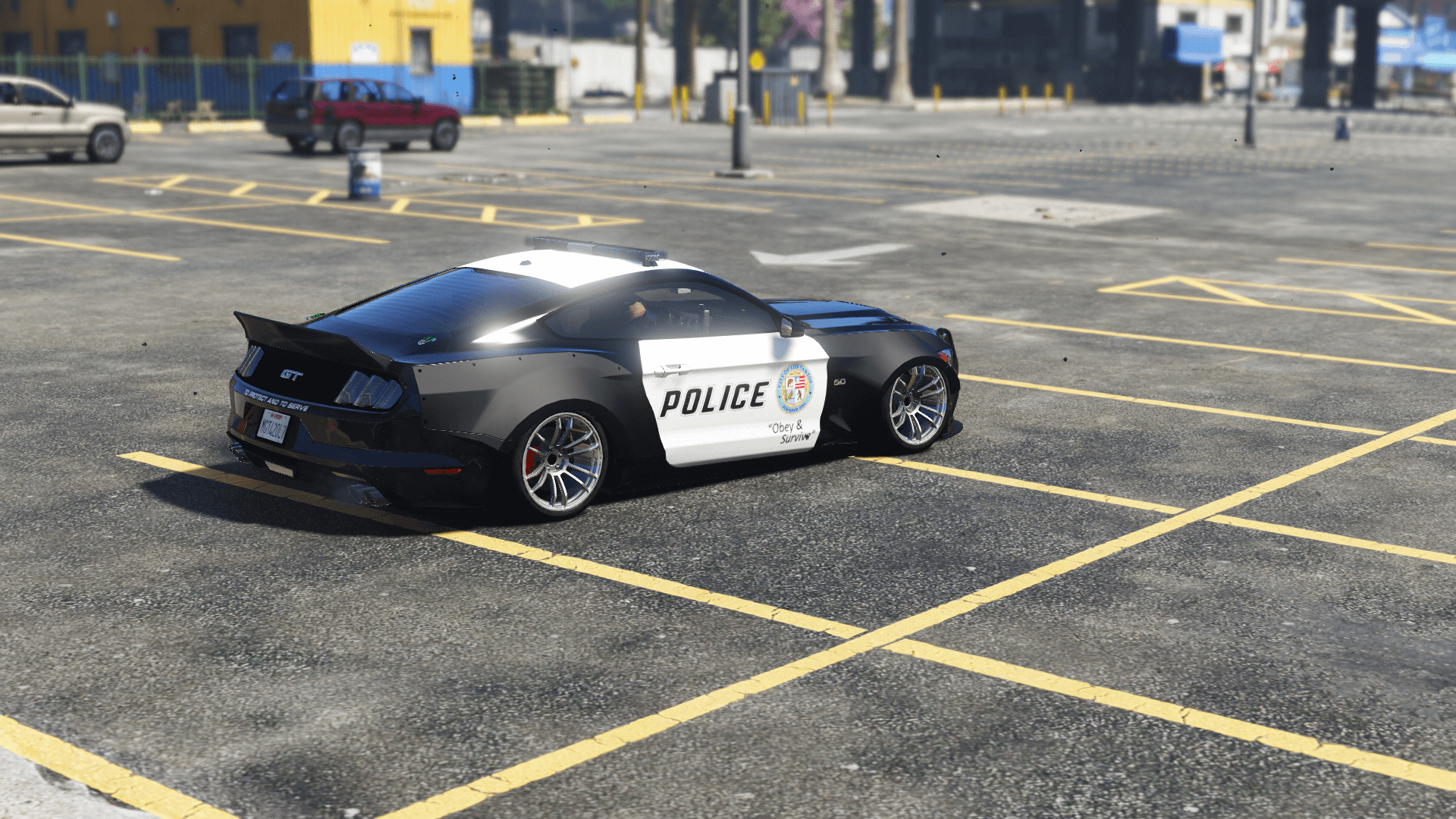 2015 Police Liberty Walk Mustang Gt Add On Gta5 Mods Com
