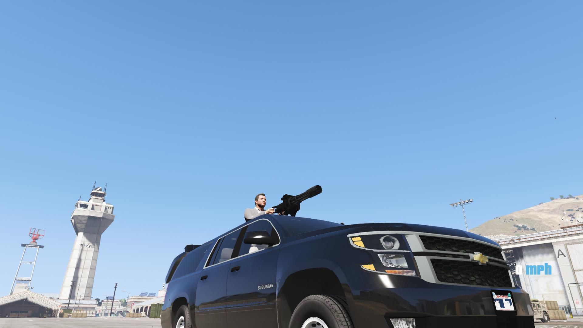 2015 Secret Service Chevy Suburban With Gun Turret[ARMORED